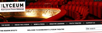 A screengrab from the Lyceum's current website, which is scheduled to be replaced in September 2012