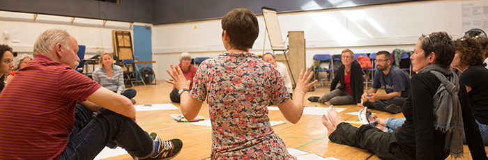 Associate Artist Wils Wilson leading an adult acting course
