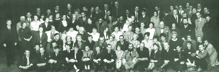 The Lyceum's staff in a photo taken in 1965