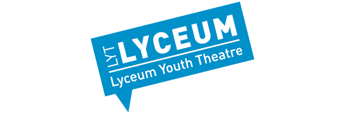 An image of the Lyceum Youth Theatre logo with the text in a white box