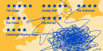 A map of the UK and Europe with scribbled arrows representing migration routes